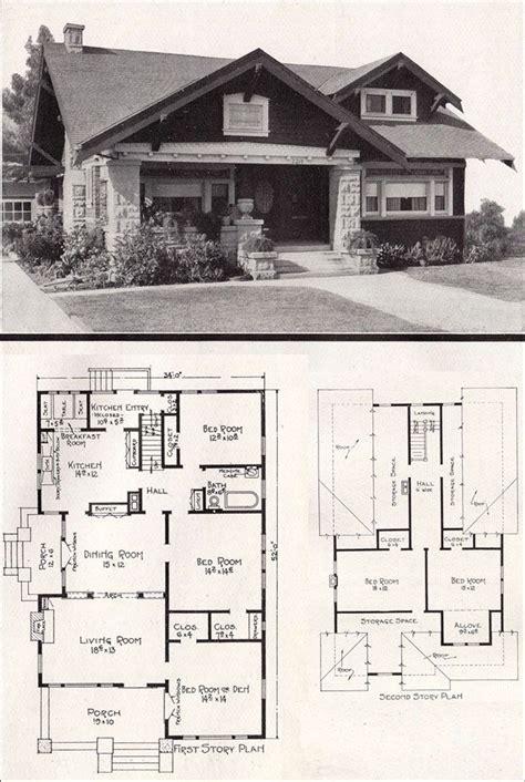 Californian Bungalow Floor Plans   vintage bungalow ca 1918 bungalows exteriors and floor