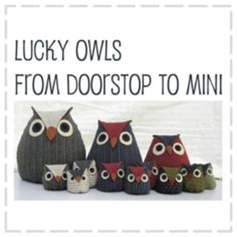 Lucky Baby Door Stopper image of lucky owls doorstop pattern 6 sizes in one
