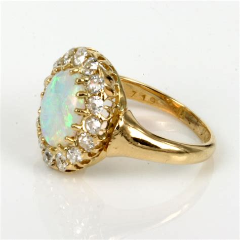 Opel Rings by Buy Antique Opal Cluster Ring Made In 1891 Sold