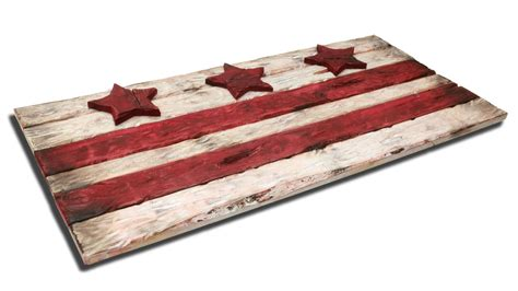 one of a woodworking district of columbia flag weathered wood one of a