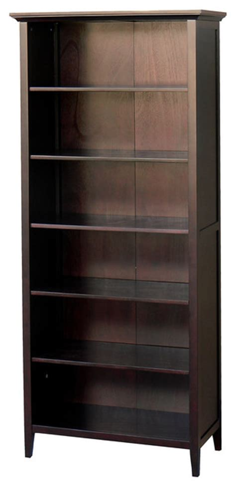 2 Foot Bookshelf Ferndale Large 6 Foot Espresso Bookcase Contemporary