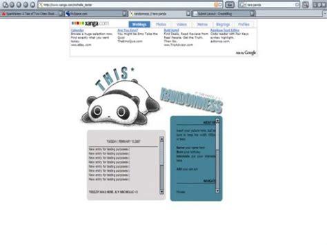Xanga Search This Randomness Tare Panda Xanga Layouts Createblog