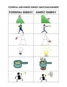 potential and kinetic energy matching cut and paste sort