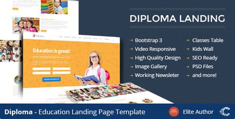 Education Landing Page Themes Free Premium Templates Education Landing Page Templates Free