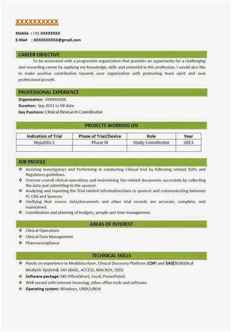 Resume Format Doc For Fresher Msc Resume Format For Biotechnology Freshers It Resume Cover Letter Sle