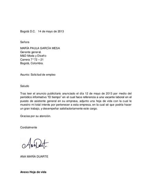Modelo De Curriculum Para Solicitar Trabajo carta solicitud de empleo portafolio de evidencias