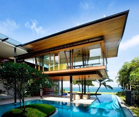 tropical luxury green living lofted seaside solar home