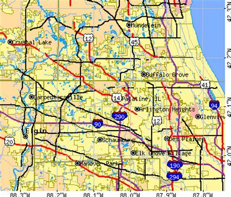 map of palatine illinois palatine illinois il 60067 profile population maps