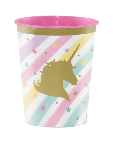 bicchieri plastica rigida bicchiere in plastica rigida con unicorno su vegaooparty