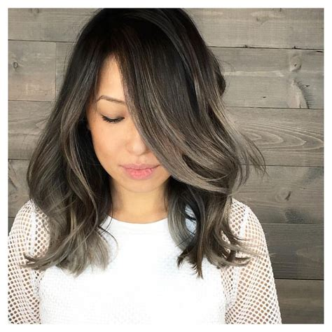 how to create gray highlights in brown hair 17 best ideas about ash balayage on pinterest ash ombre
