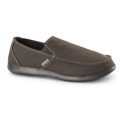 crocs loafers santa crocs santa clean cut mens canvas loafers espresso