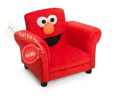delta children sesame elmo giggle upholstered chair