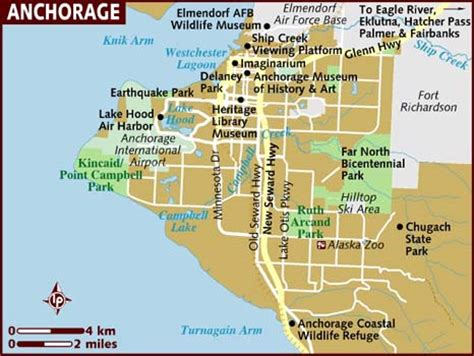 anchorage usa map map of anchorage