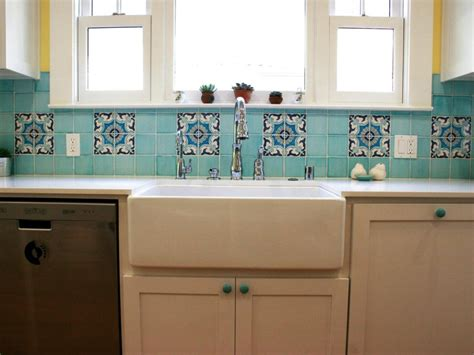 blue and white ceramic tile backsplash simple kitchen with blue ceramic moroccan style tile backsplash blue cabinet door knobs and