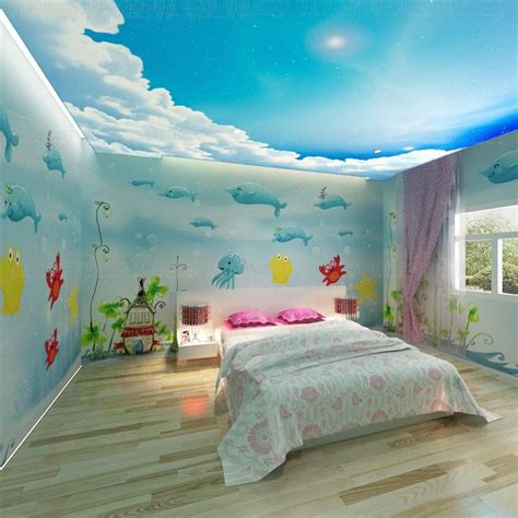 bedroom 3d wallpaper free shipping 3d wallpaper dolphin cartoon child real