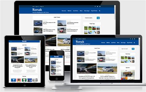 ronak responsive blog magazine wordpress theme blogger