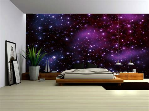 galaxy wallpaper for bedroom galaxy fleece photo wallpaper wall mural 177ve ebay