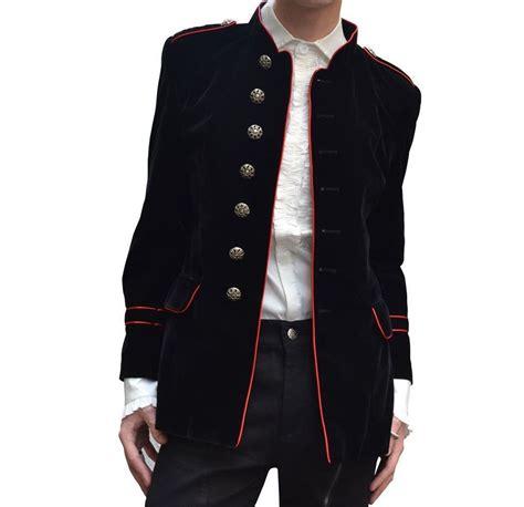 Handmade Coats - black jacket steunk vtg solid 100
