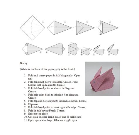 Origami Patterns - origami bunny