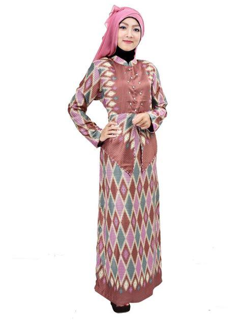Baju Muslim Batik Pesta 21 Koleksi Baju Batik Muslim Terbaik 2018 Gambar Busana