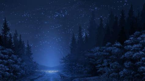 wallpaper blue forest blue forest night hd wallpaper 187 fullhdwpp full hd