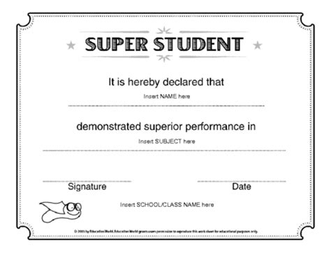 Star Student Of The Week Template Invitation Template Student Award Template