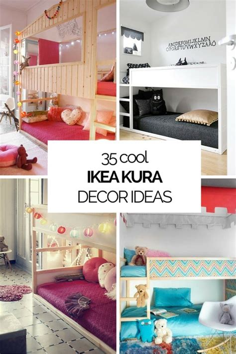 ikea bedroom ideas pinterest 45 cool ikea kura beds ideas for your kids rooms digsdigs