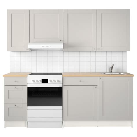 Knobs Kitchen Cabinets by Knoxhult Kitchen Grey 220x61x220 Cm Ikea