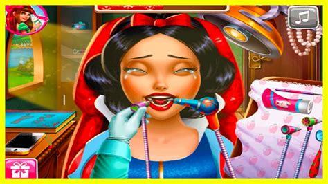 snow white games for girls girl games snow white real dentist kids games for girls youtube