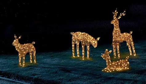 china 3d reindeer family christmas rope led mini