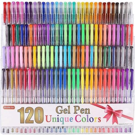 Gel Pen Refill Set get crafty with this 120 gel pens set thrifty jinxy