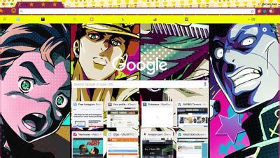 google themes jojo jojo chrome themes themebeta