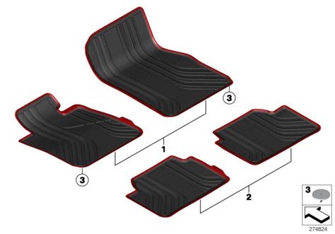 Bmw All Weather Mats by Bmw Genuine All Weather Rubber Rear Car Floor Mats F34 Gt