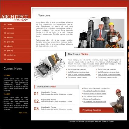 Architect Company Template Free Website Templates In Css Html Js Format For Free Download 247 92kb Architecture Website Templates Free