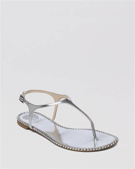 vince camuto silver sandals vince camuto flat sandals adrelin in gray silver
