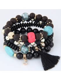 Anting Korea Multielement Hollow Out american white leopard decorated design alloy korean fashion bracelet asujewelry