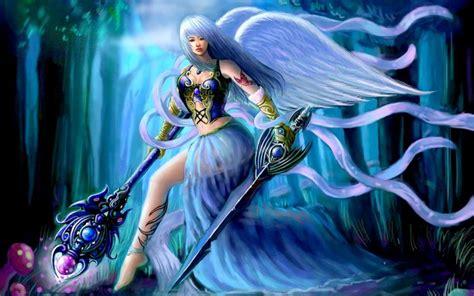 hd sword angel wallpaper