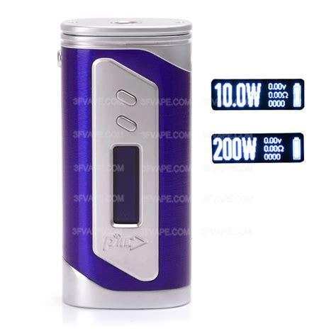 authentic pioneer4you ipv 6x 200w tc vw 2 x 18650 purple box mod