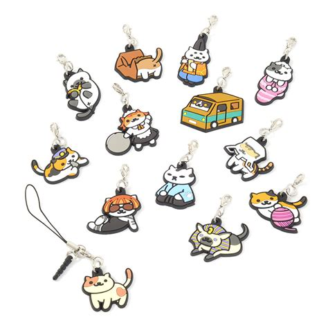 Merchandise Rubber Anime neko atsume 3 way rubber straps vol 2 tokyo otaku mode shop