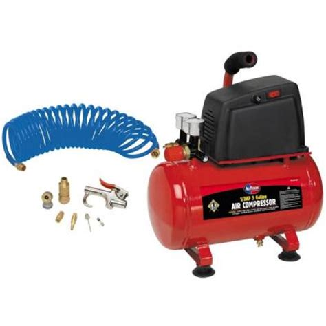 3 gal all power 1 3 hp air compressor with accessories