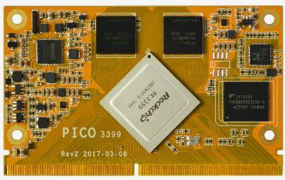 transistor q7 boardcon pico3399 moduł som z rockchip rk3399 i android 6 0