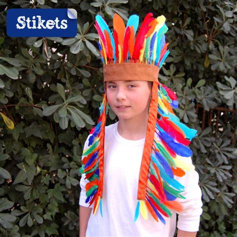trajes de indio de material de desecho disfraz casero de indio stikets blog