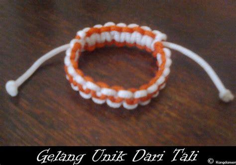 cara membuat gelang yang mudah cara membuat gelang dari tali cara mudah