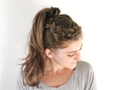 easy braid hairstyle for the gym popsugar fitness