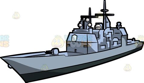 navy boat clipart a military cargo ship clipart by vector toons