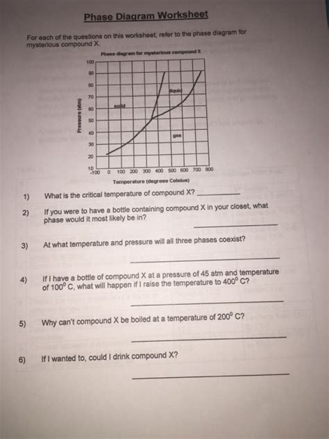 phase diagram questions solved for each of the questions on this worksheet refer chegg