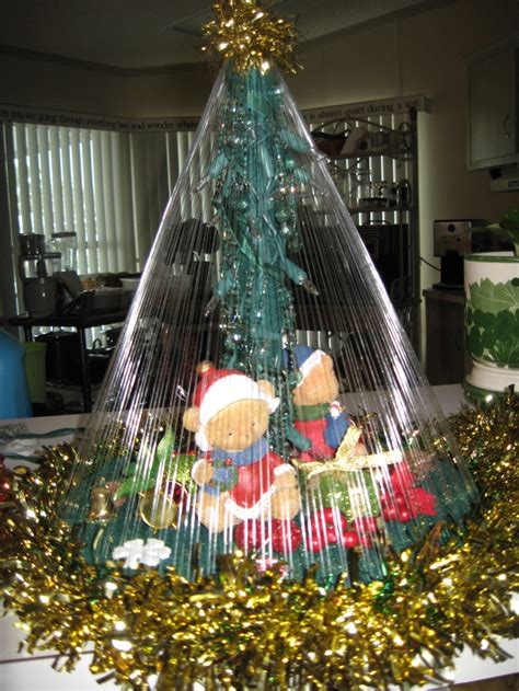 fishing line christmas tree primitive rachael edwards