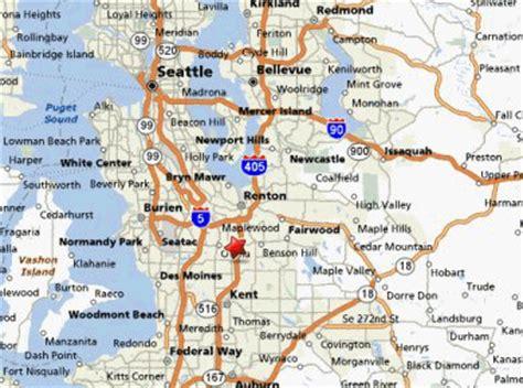 seattle map kent northwest fleet lease