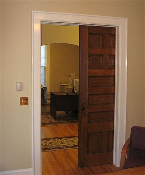 pocket barn door less noise sparrow stoll