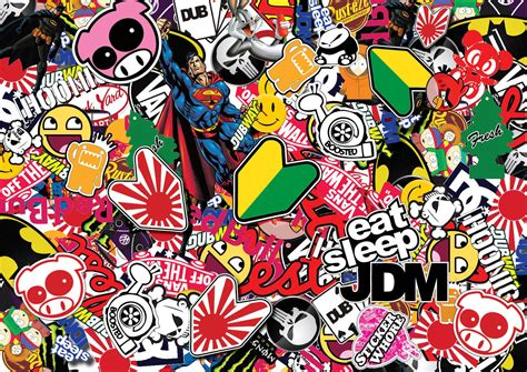 Pin Jdm Sticker Bomb Wallpaper On Pinterest